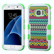 Military Grade Certified TUFF Image Hybrid Case for Samsung Galaxy S7 - Tribal Sun