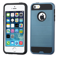 Brushed Hybrid Armor Case for iPhone SE / 5S / 5 - Ink Blue