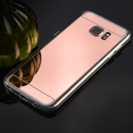 Premium Electroplated Candy Skin Cover for Samsung Galaxy S7 Edge - Rose Gold