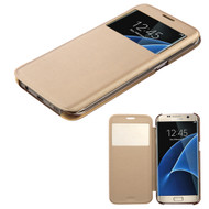 *Sale* Book-Style Hybrid Case for Samsung Galaxy S7 Edge - Gold