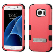 Military Grade Certified TUFF Hybrid Kickstand Case for Samsung Galaxy S7 - Pink