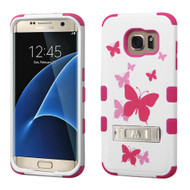 Military Grade Certified TUFF Image Hybrid Kickstand Case for Samsung Galaxy S7 Edge - Butterfly Dancing