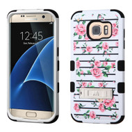 Military Grade Certified TUFF Image Hybrid Kickstand Case for Samsung Galaxy S7 Edge - Fresh Roses