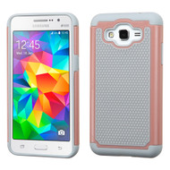 TotalDefense Hybrid Case for Samsung Galaxy Grand Prime - Grey Rose Gold
