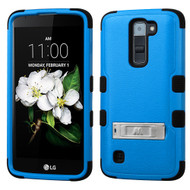 Military Grade Certified TUFF Hybrid Armor Case with Stand for LG K7 / K8 / Escape 3 / Treasure LTE / Tribute 5 - Blue