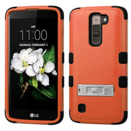 Military Grade Certified TUFF Hybrid Armor Case with Stand for LG K7 / Treasure LTE / Tribute 5 - Orange