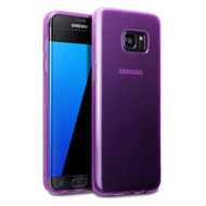 *Sale* Rubberized Crystal Case for Samsung Galaxy S7 Edge - Frost Purple