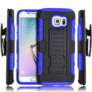 *SALE* Robust Armor Stand Protector Cover with Holster for Samsung Galaxy S7 Edge - Black Blue