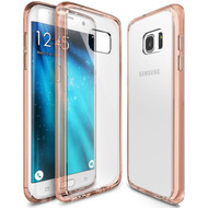 Ultra Hybrid Shock Absorbent Crystal Case for Samsung Galaxy S7 Edge - Rose Gold