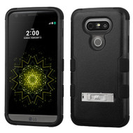 Military Grade Certified TUFF Hybrid Armor Case with Stand for LG G5 - Black