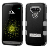 Military Grade Certified Military Grade TUFF Hybrid Armor Case with Stand for LG G5 - Black Grey