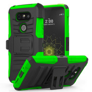*SALE* Advanced Armor Hybrid Kickstand Case with Holster for LG G5 - Black Green