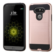 Brushed Hybrid Armor Case for LG G5 - Rose Gold