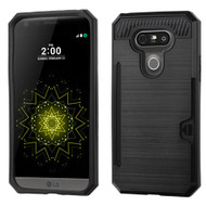 Card To Go Hybrid Case with Card Stand for LG G5 - Black