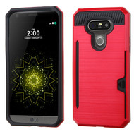 Card To Go Hybrid Case with Card Stand for LG G5 - Red