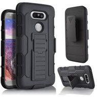 Robust Armor Stand Protector Cover with Holster for LG G5 - Black
