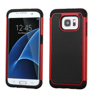 TotalDefense Hybrid Case for Samsung Galaxy S7 Edge - Red