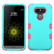Military Grade Certified TUFF Hybrid Armor Case for LG G5 - Teal Hot Pink