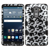 Military Grade Certified TUFF Image Hybrid Case for LG G Stylo / Vista 2 - Leopard Silver
