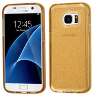 Premium Sparkling Frost Candy Skin Cover for Samsung Galaxy S7 - Gold