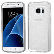 Premium Sparkling Frost Candy Skin Cover for Samsung Galaxy S7 - Silver
