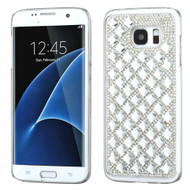Desire Bling Bling Crystal Cover for Samsung Galaxy S7 Edge - Diamond Silver