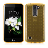 Perforated Transparent Cushion Gelli Case for LG K7 / K8 / Escape 3 / Treasure LTE / Tribute 5 - Gold