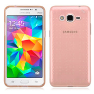 Perforated Transparent Cushion Gelli Case for Samsung Galaxy Grand Prime - Rose Gold