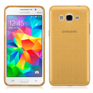 Perforated Transparent Cushion Gelli Case for Samsung Galaxy Grand Prime - Gold