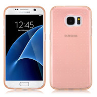 Perforated Transparent Cushion Gelli Case for Samsung Galaxy S7 - Rose Gold