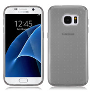 Perforated Transparent Cushion Gelli Case for Samsung Galaxy S7 - Smoke