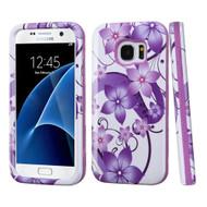 Verge Image Hybrid Armor Case for Samsung Galaxy S7 - Hibiscus Flower Romance Purple