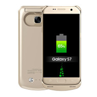 *SALE* Power Bank Battery Case with Kickstand 4200mAh for Samsung Galaxy S7 - Gold