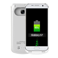 Power Bank Battery Case with Kickstand 4200mAh for Samsung Galaxy S7 - White