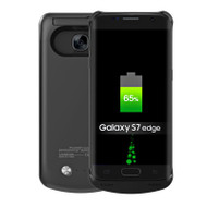 Power Bank Battery Case with Kickstand 5200mAh for Samsung Galaxy S7 Edge - Black