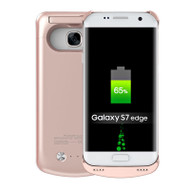 Power Bank Battery Case with Kickstand 5200mAh for Samsung Galaxy S7 Edge - Rose Gold
