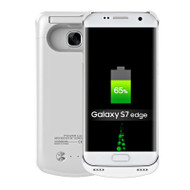 Power Bank Battery Case with Kickstand 5200mAh for Samsung Galaxy S7 Edge - White