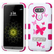 Military Grade Certified TUFF Image Hybrid Armor Case with Stand for LG G5 - Butterfly Dancing