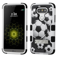 Military Grade Certified TUFF Image Hybrid Armor Case with Stand for LG G5 - Soccer Ball