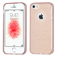 Premium Sparkling Frost Candy Skin Cover for iPhone SE / 5S / 5 - Rose Gold