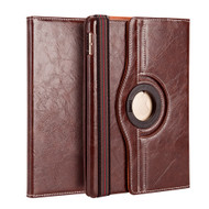 Premium 360 Degree Smart Rotating Leather Case for iPad Pro 9.7 inch - Brown