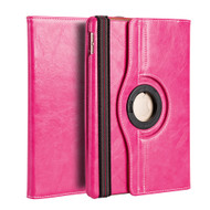 Premium 360 Degree Smart Rotating Leather Case for iPad Pro 9.7 inch - Hot Pink