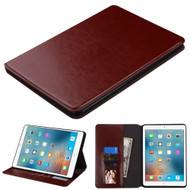 Book-Style Leather Folio Case for iPad Pro 9.7 inch - Brown