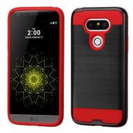 Brushed Hybrid Armor Case for LG G5 - Black Red