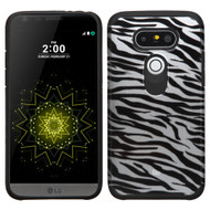 Hybrid Multi-Layer Armor Case for LG G5 - Zebra Silver