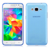 Perforated Transparent Cushion Gelli Case for Samsung Galaxy Grand Prime - Blue
