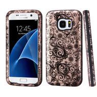 Verge Image Hybrid Armor Case for Samsung Galaxy S7 - Leaf Clover Rose Gold