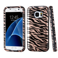 Verge Image Hybrid Armor Case for Samsung Galaxy S7 - Zebra Rose Gold