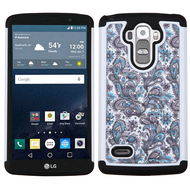 TotalDefense Diamond Hybrid Case for LG G Stylo / Vista 2 - Persian Paisley