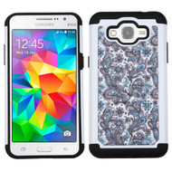 TotalDefense Diamond Hybrid Case for Samsung Galaxy Grand Prime - Persian Paisley